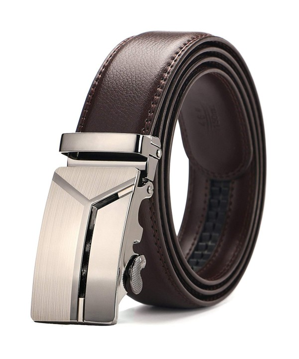 Mens Belts,Iztor Leather Ratchet Dress Belt with Automatic Buckle 1 3//8 Wider for from 20 to 43 Waist