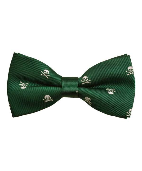 Alizeal Skull Patterned Pre tied Green