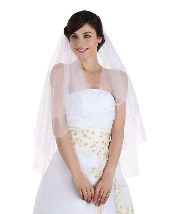 Tier Sequin Beaded Bridal Wedding