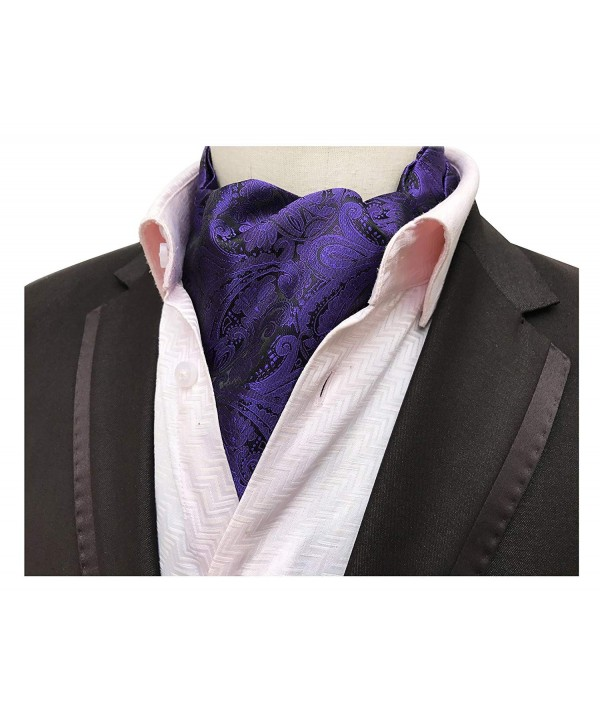 Elfeves Purple Paisley Cravat Fashion