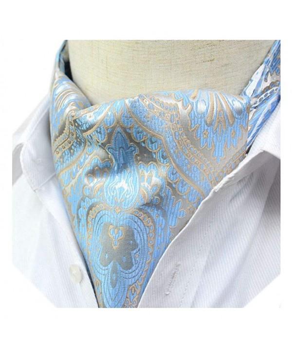 Secdtie Silver Floral Jacquard Cravat
