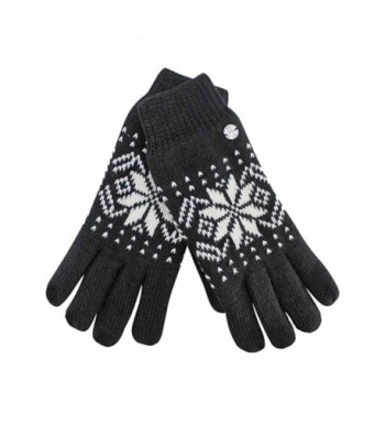 Black Thermal Insulated Winter Gloves