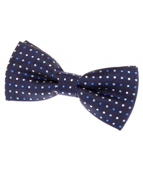 Vintage Three Colour Polka Woven Pre tied