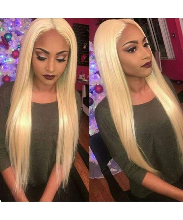 straight blonde middle synthetic glueless