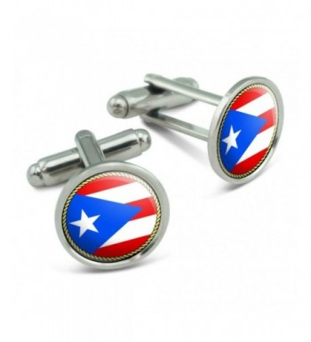 Flag Puerto Rico Cufflinks Links