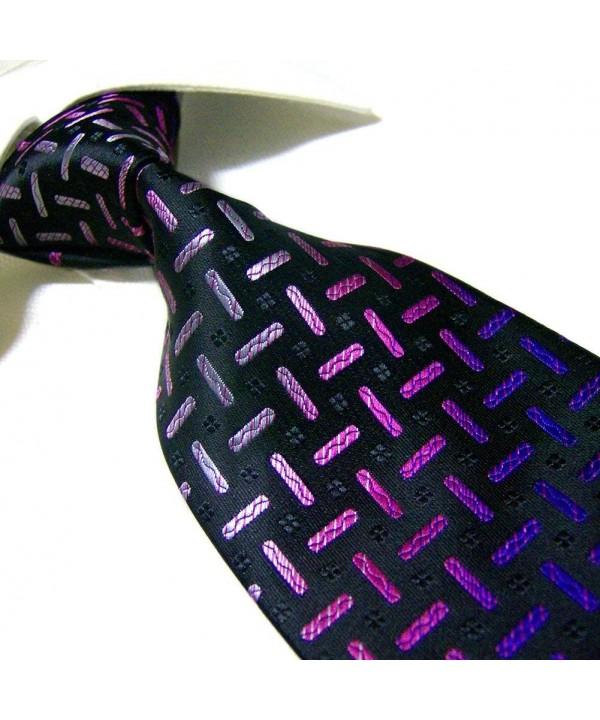Extra Fashion Black Purple Necktie