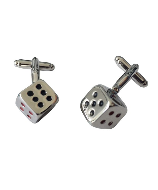Colorful Dice Stainless Cufflinks TrendyLuz