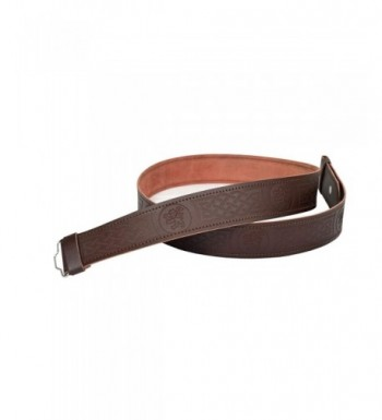 Leather Adjustable Highland Rampant Embossed