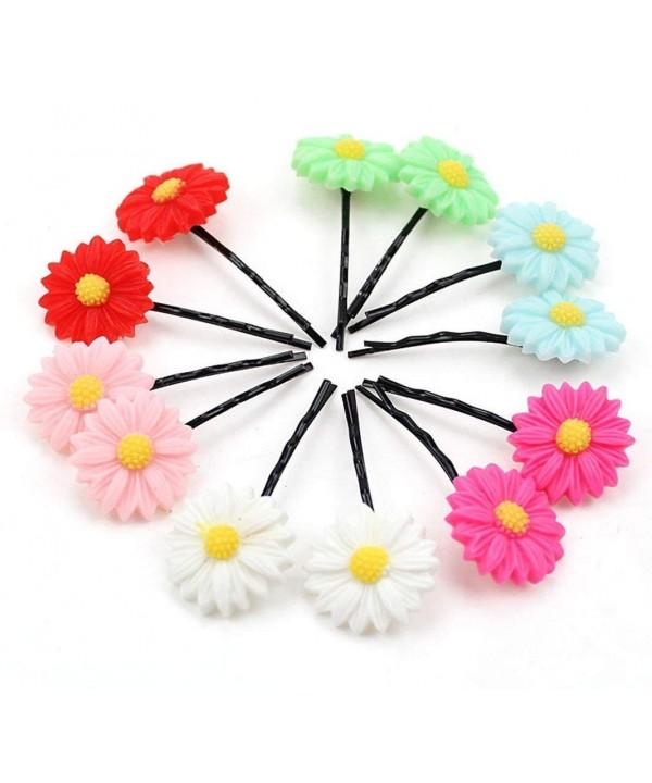 12Pcs Daisy Flowers Hairpin Random
