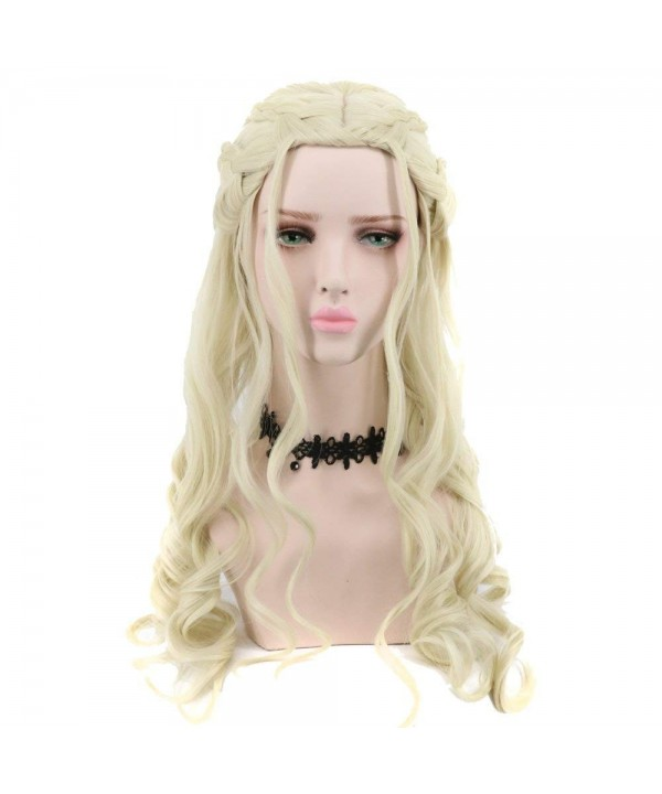 Yuehong Curly Blonde Cosplay Costume