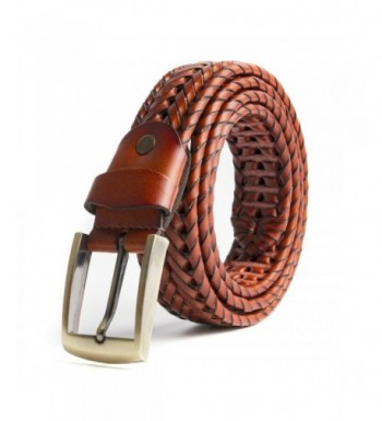 ECHAIN Braided Woven Genuine Leather