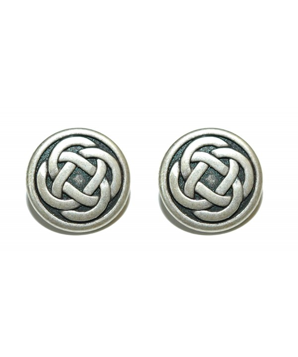 Silver Round Celtic Links 088a