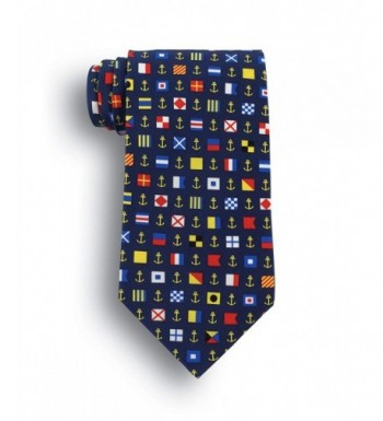 Ahoy Matey Silk Tie Nautical