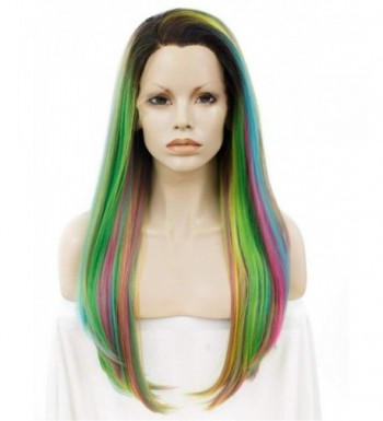 Rainbow 24inch Straight Resistant Synthetic