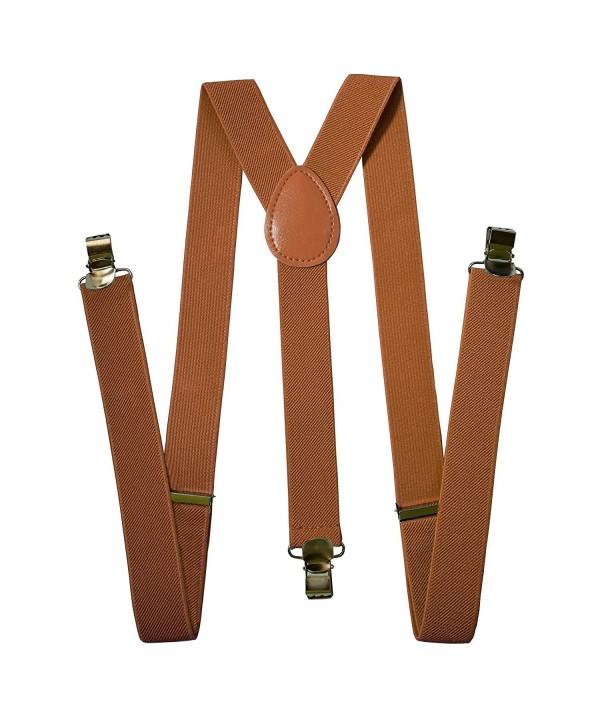 Suspenders For Men Adjustable Solid Strait Clips Brown Black lot of 3,5,10