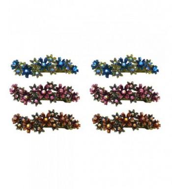 Crystal Flower Barrettes Colors YY86450 8 6