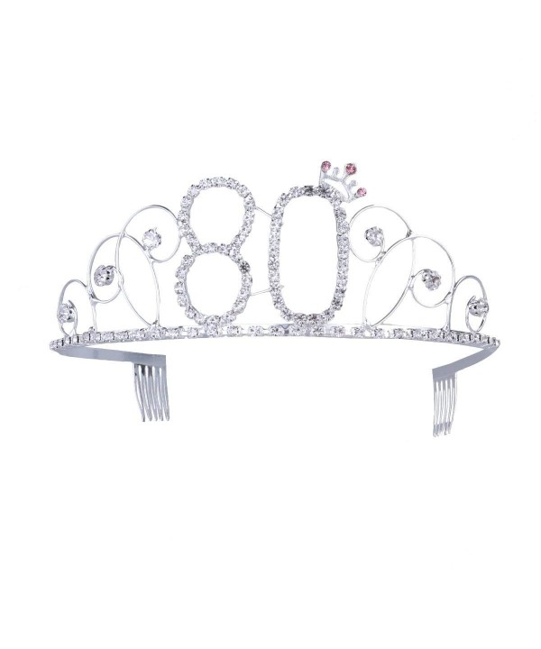 Frcolor Birthday Tiara Crystal Rhinestone