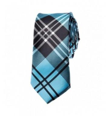 TopTie Unisex Black Skinny Necktie